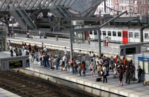 ILLUSTRATION LIEGE GUILLEMINS TRAIN STATION